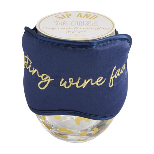 Navy Sip and Snooze Gift Set