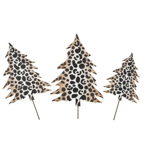 Small Leopard Metal Tree