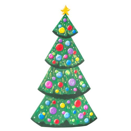 Merry & Bright Metal Tree Yard
