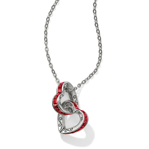 Spectrum Petite Red Hearts Necklace