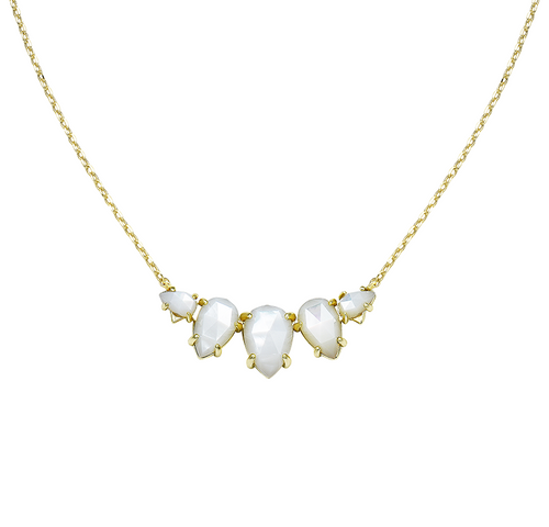 Daydreamer Gold Ivory Pearl Necklace
