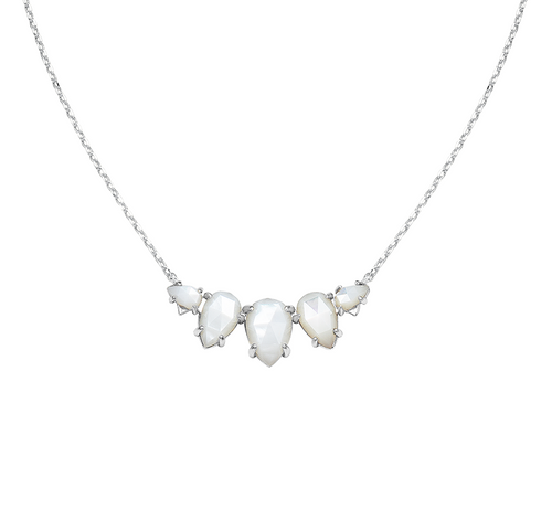 Daydreamer Silver Ivory Pearl Necklace
