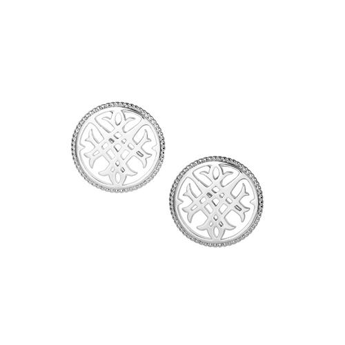 Circle Logo Silver Stud Earring