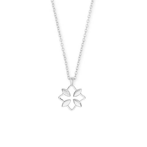 Grace Silver Drop Necklace