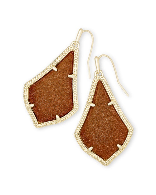 Alex Earring Gold Goldstone