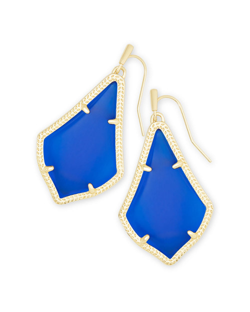 Alex Earring Gold Cobalt