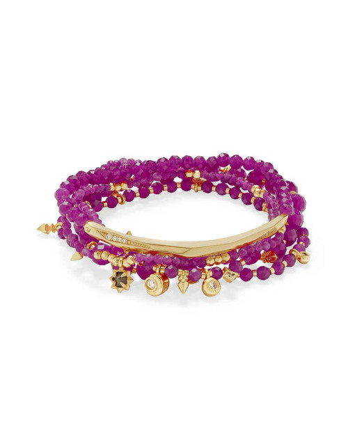 Supak Bracelet Gold Purple Jade