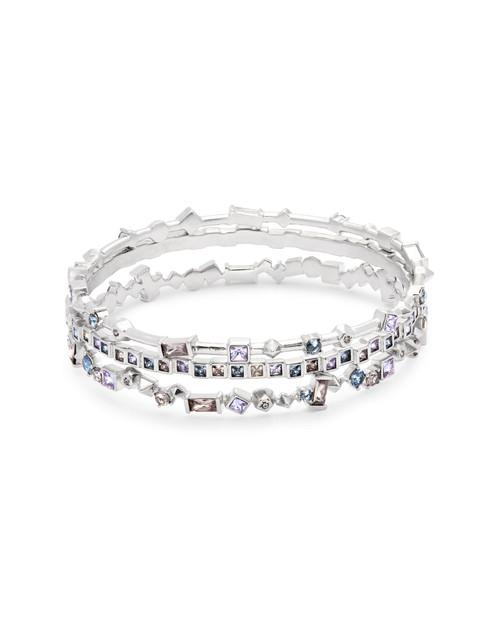 Malia Bracelet Silver Lilac Mixed Metals