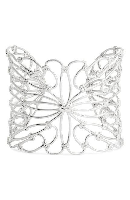 Hallie Cuff Bracelet Silver Metal