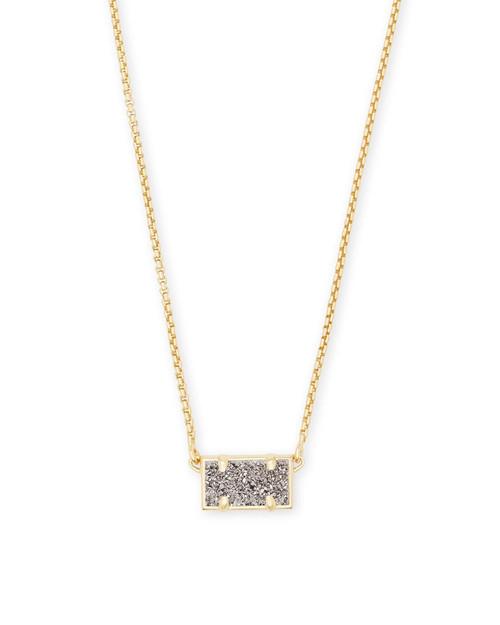 Pattie Necklace Gold Platinum Drusy
