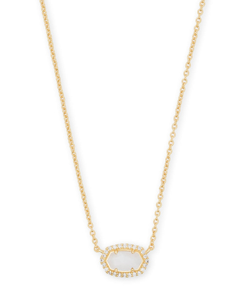 Chelsea Necklace Gold White Mop