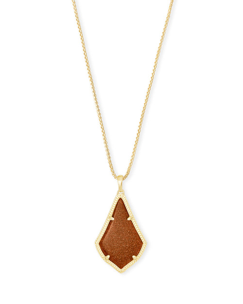 Alex Necklace Gold Goldstone