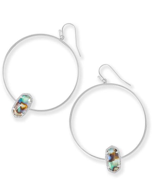 Elora Earring Silver Abalone