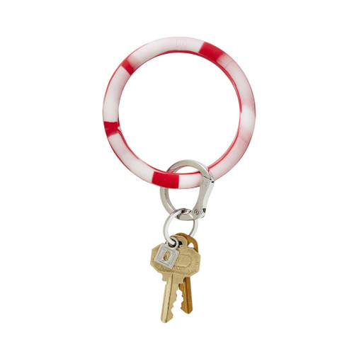 Red Marble Cherry on Top Big O Silicone Key Ring