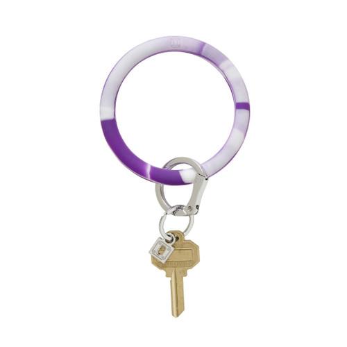 Purple Marble Big O Silicone Key Ring