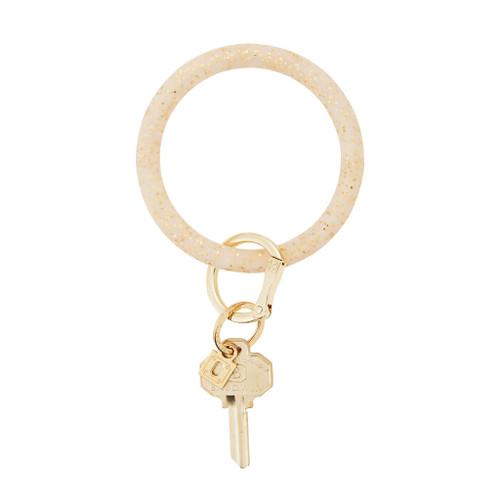 Gold Confetti Big O Silicone Key Ring