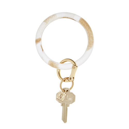 Gold Marble Big O Silicone Key Ring