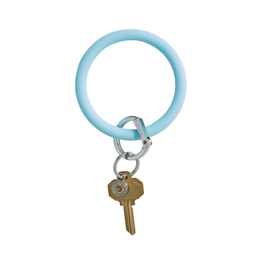 Carolina Blue Big O Silicone Key Ring