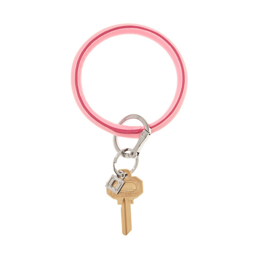 Cotton Candy Big O Leather Key Ring