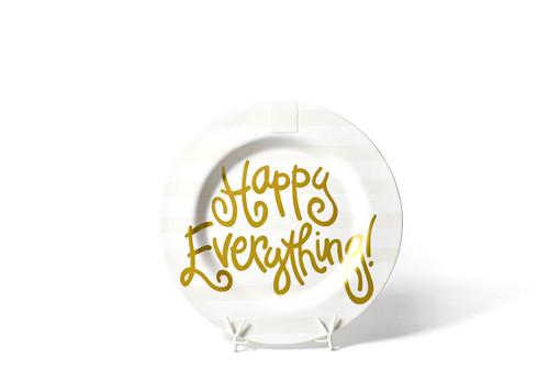 White Stripe Gold Happy Everything Big Platter