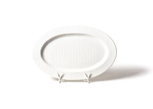 White Stripe Oval Platter