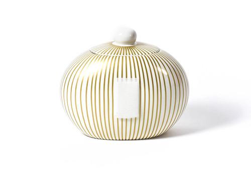Gold Stripe Big Cookie Jar