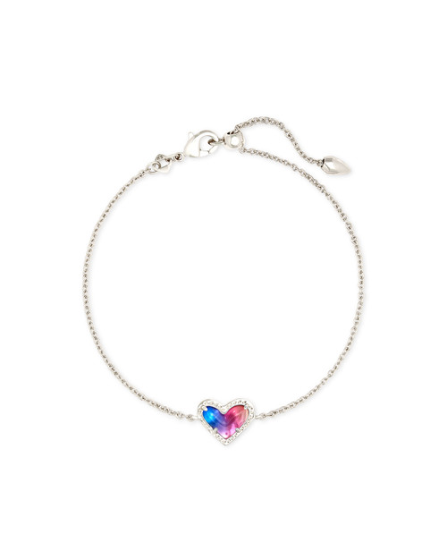 Ari Heart Silver Watercolor Illusion Bracelet