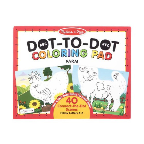Farm Dot To Dot Coloring Pad