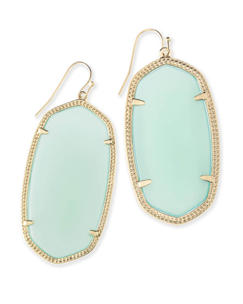 Danielle Earring Chalcedony with Gold