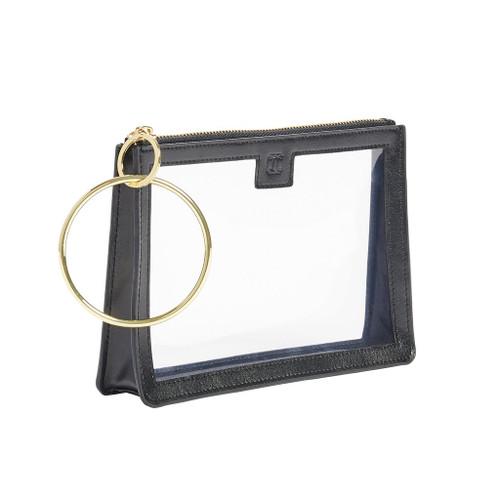Black Clear Big O Bracelet Bag