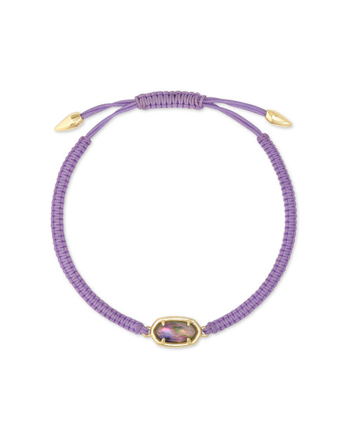 Grayson Friendship Bracelet Gold Lilac Abalone