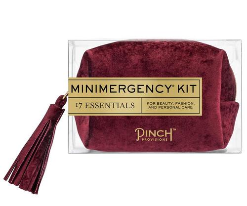 Velvet Oxblood Minimergency Kit