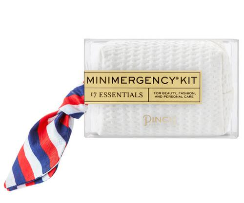 White Basketweave Minimergency Kit