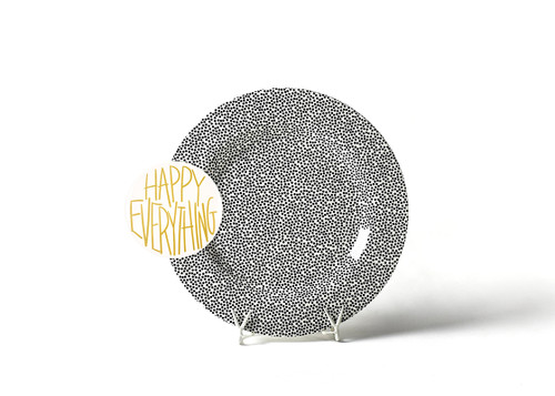 Black Small Dot Big Entertaining Platter With Happy Everything Attachment