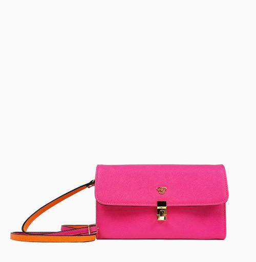 Pink/Orange Travel Clutch