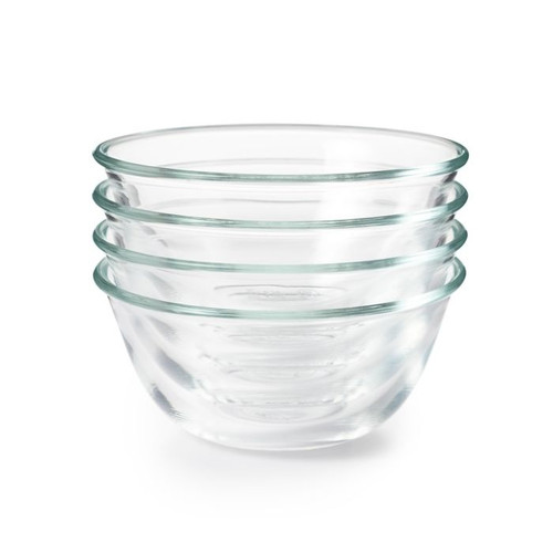 4 Piece Glass Prep Bowl Set