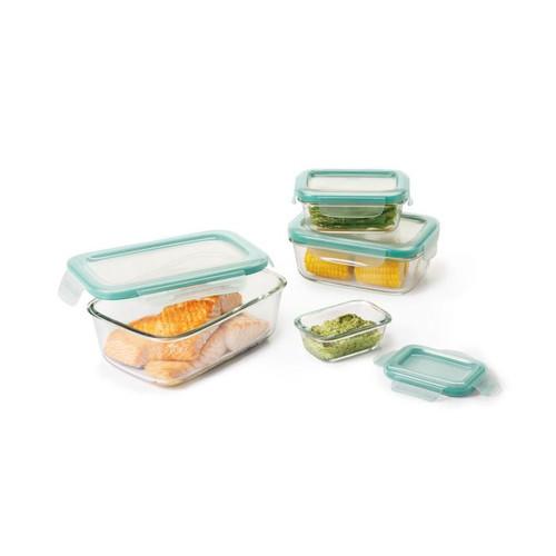 8 Piece Smart Seal Glass Rectangular Set