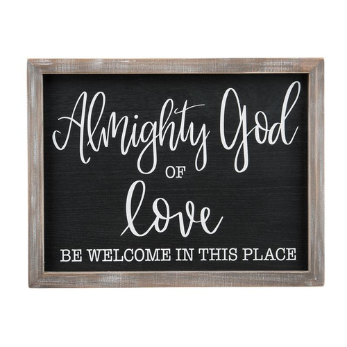 Almighty God Of Love Framed Board