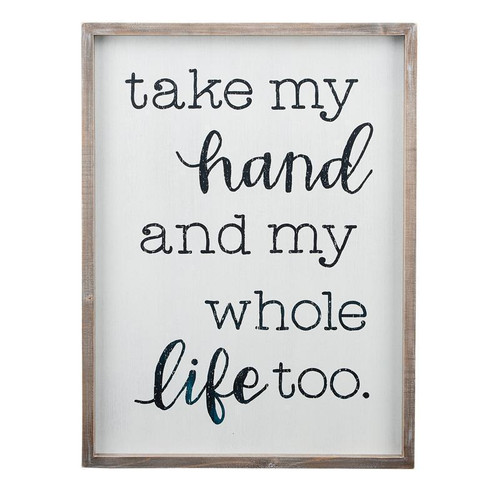 Take My Hand Framed Board