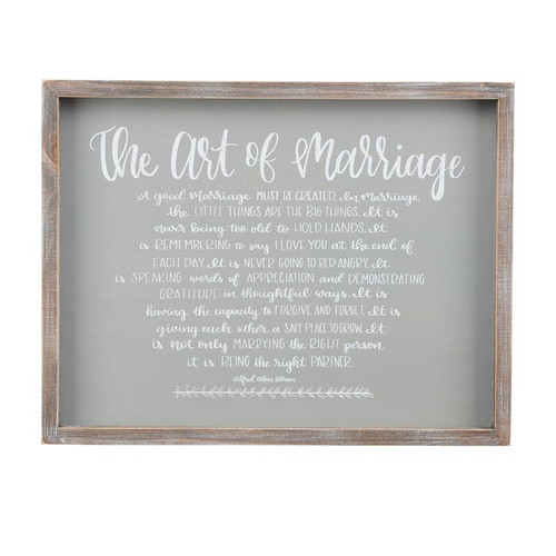 Act Of Marriage Framed Board