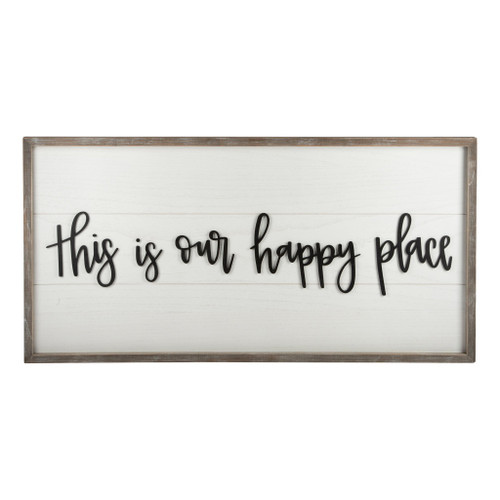Happy Place Framed Board