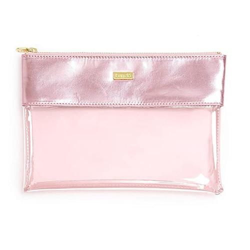 Peekaboo Rectangular Clutch Pink Shimmer
