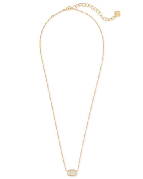 Chelsea Necklace Gold Iridescent Drusy CZ