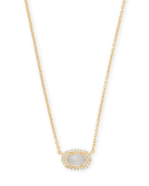 Chelsea Necklace Gold Slate CZ
