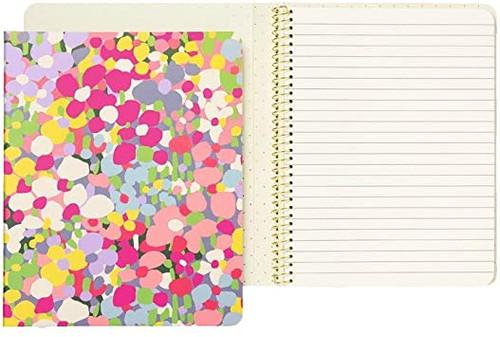Floral Dot Spiral Notebook