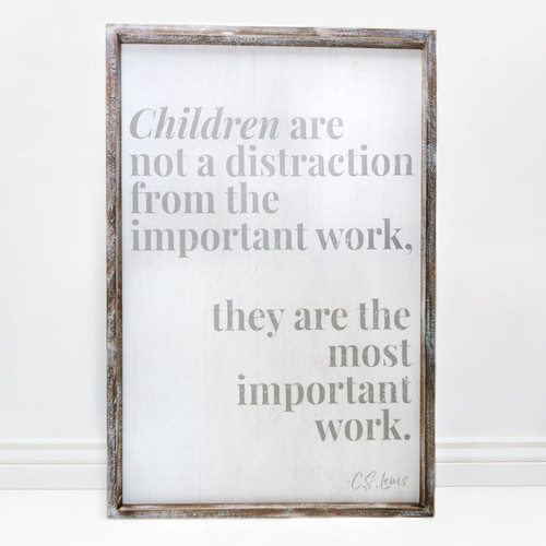 Children are Important Sign 24x36