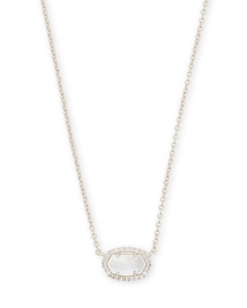 Chelsea Necklace Silver Ivory Mother of Pearl CZ