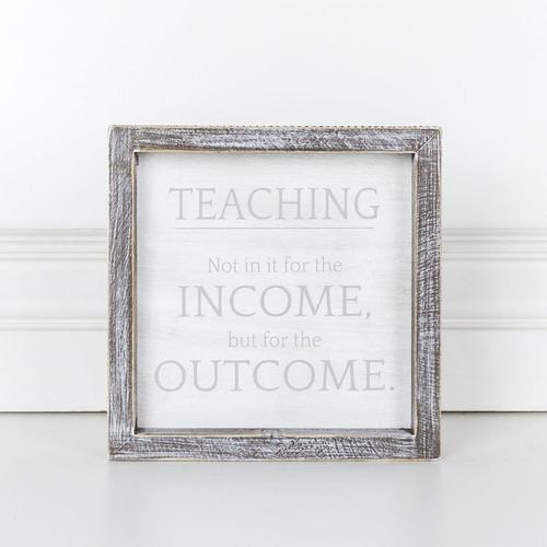 Income Outcome Sign