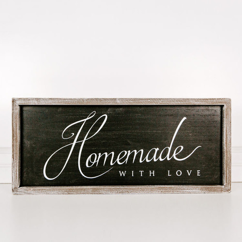 Homemade with Love Sign 25x10