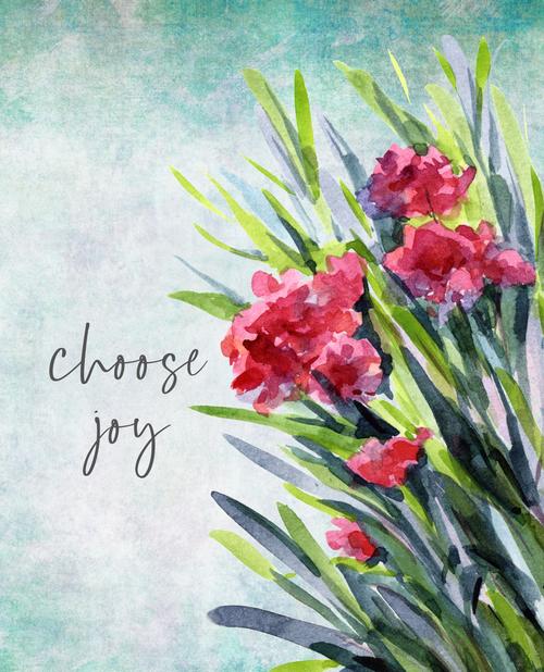 Choose Joy Floral 24x36 Canvas